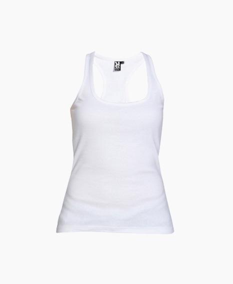 B/&C Camiseta de tirantes larga en canal/é con espalda estilo nadadora para chica//mujer